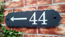 Rustic Rectangular House Sign – 430mm x 115mm; 17 inches x 4.5 inches